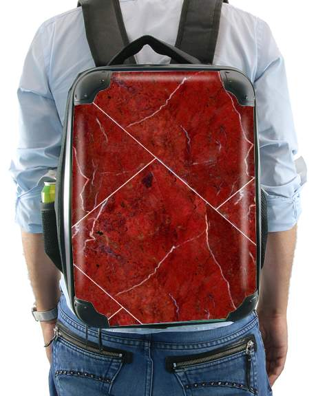 Minimal Marble Red for Backpack