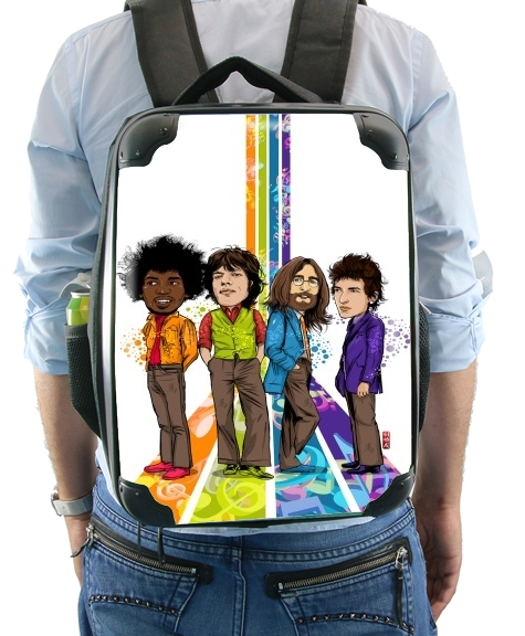 Music Legends: Lennon, Jagger, Dylan & Hendrix for Backpack