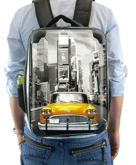 Yellow taxi City of New York City for Backpack