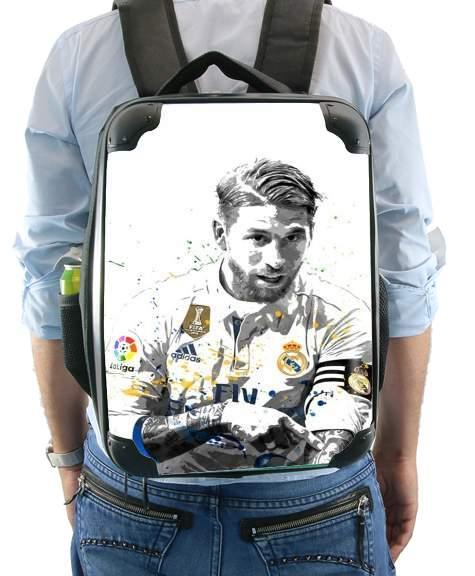 Sergio Ramos Painting Art for Backpack
