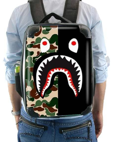 Shark Bape Camo Military Bicolor for Backpack