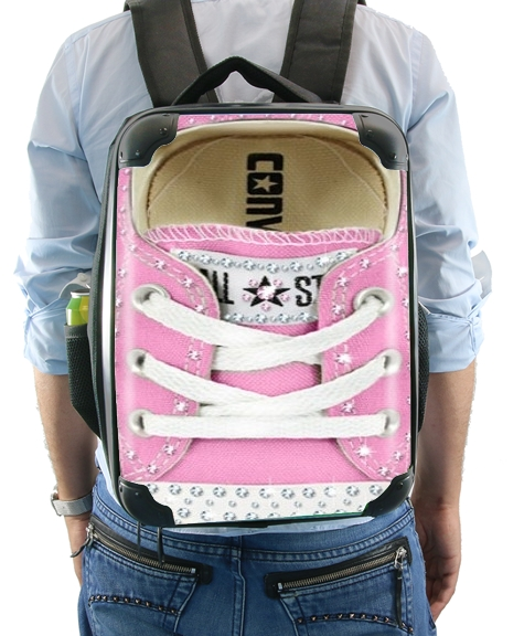All Star Basket shoes Pink Diamonds for Backpack