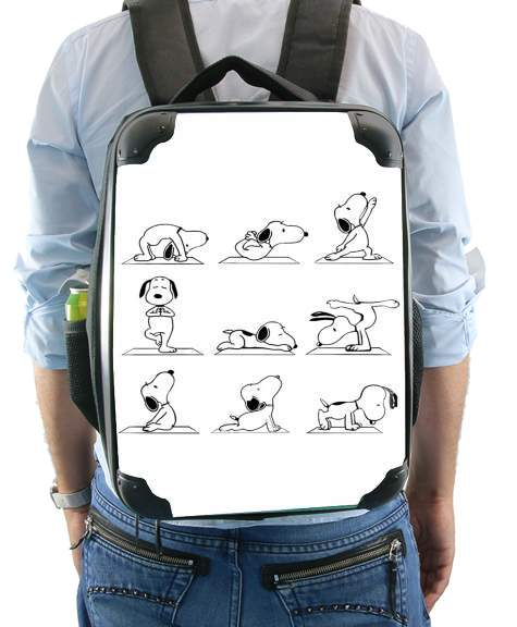 Snoopy Yoga for Backpack
