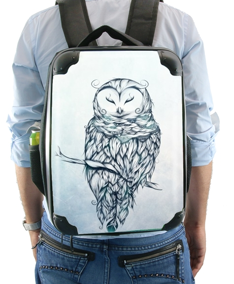 Snow Owl for Backpack