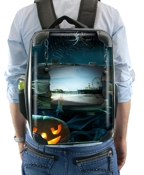 Spooky Halloween Santa Monica Pier for Backpack