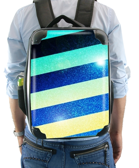 Striped Colorful Glitter for Backpack