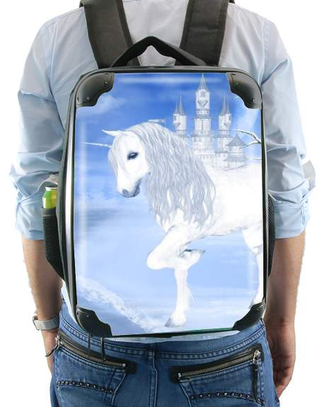 The White Unicorn for Backpack