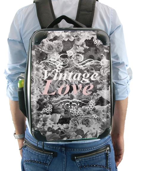 Vintage love in black and white for Backpack