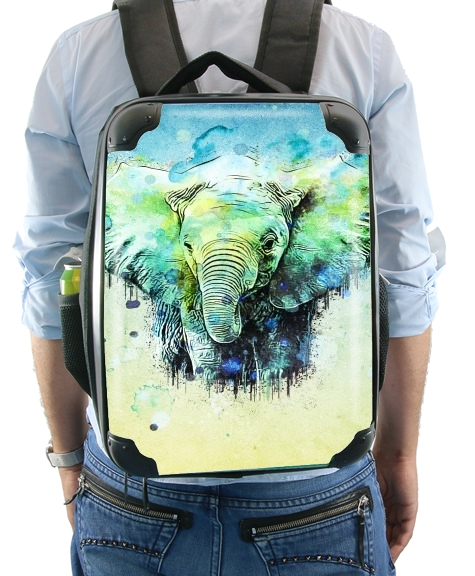 watercolor elephant for Backpack