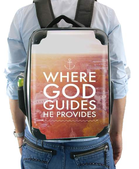 Where God guides he provides Bible for Backpack