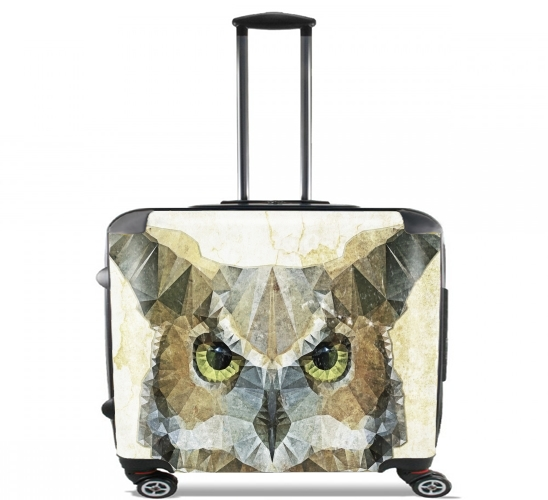 "abstract owl for Wheeled bag cabin luggage suitcase trolley 17"" laptop"