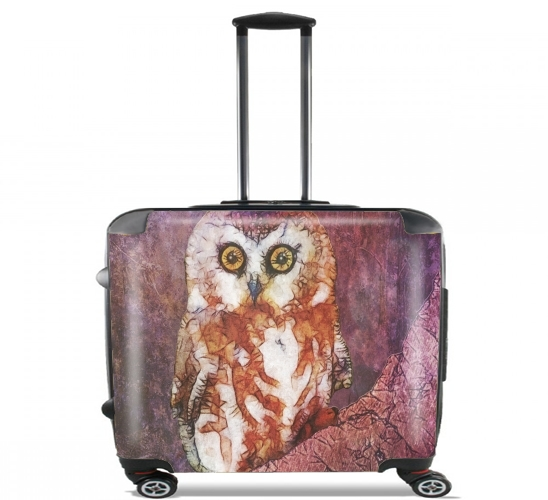 "abstract cute owl for Wheeled bag cabin luggage suitcase trolley 17"" laptop"