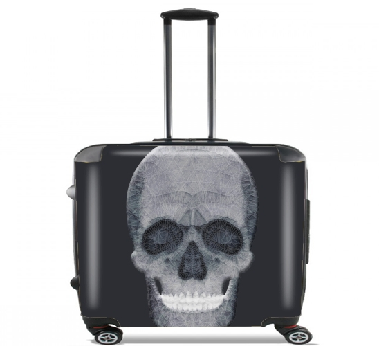 "abstract skull for Wheeled bag cabin luggage suitcase trolley 17"" laptop"