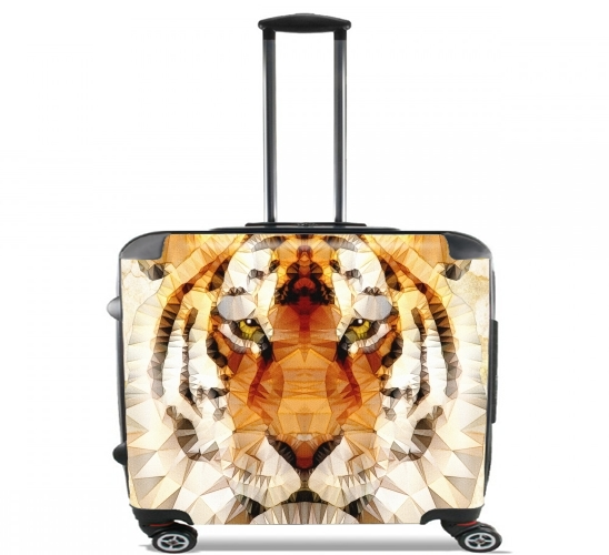 "abstract tiger for Wheeled bag cabin luggage suitcase trolley 17"" laptop"