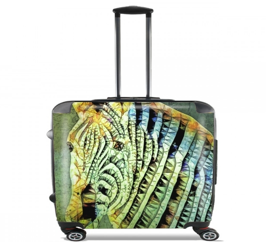 "abstract zebra for Wheeled bag cabin luggage suitcase trolley 17"" laptop"