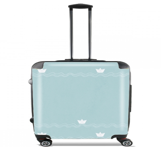 "Across the Wide Sea for Wheeled bag cabin luggage suitcase trolley 17"" laptop"