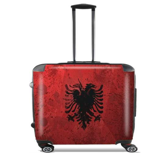 "Albanie Painting Flag for Wheeled bag cabin luggage suitcase trolley 17"" laptop"