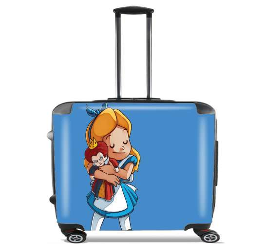 "Alice Free Hugs for Wheeled bag cabin luggage suitcase trolley 17"" laptop"
