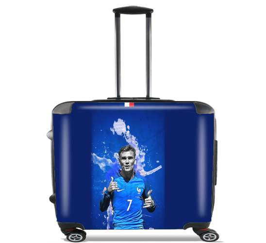 "Allez Griezou France Team for Wheeled bag cabin luggage suitcase trolley 17"" laptop"