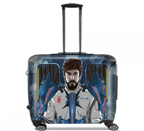 "Alonso mechformer  racing driver  for Wheeled bag cabin luggage suitcase trolley 17"" laptop"