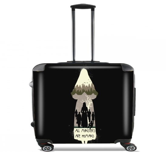 "american asylum for Wheeled bag cabin luggage suitcase trolley 17"" laptop"