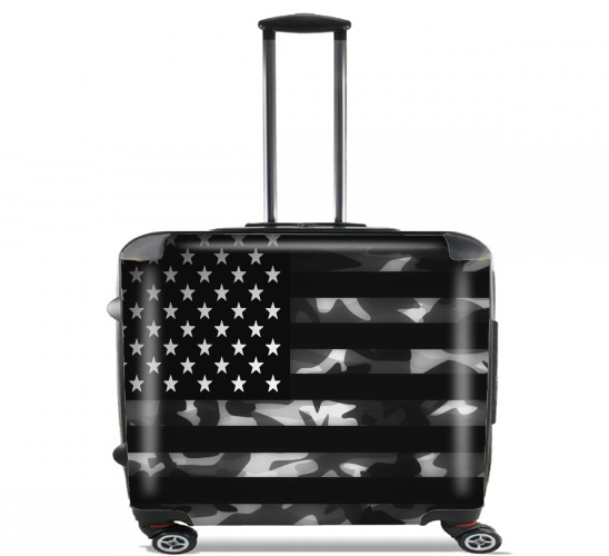 "American Camouflage for Wheeled bag cabin luggage suitcase trolley 17"" laptop"