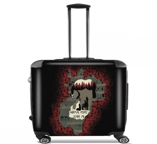 "American murder house for Wheeled bag cabin luggage suitcase trolley 17"" laptop"