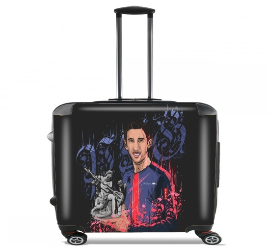 "An Angel in Paris  for Wheeled bag cabin luggage suitcase trolley 17"" laptop"
