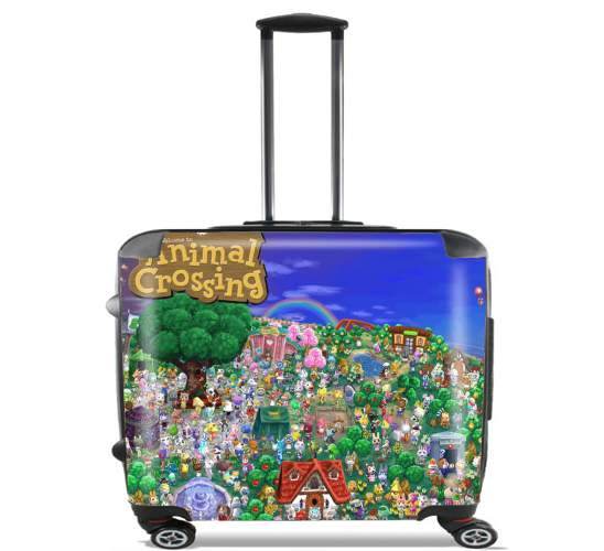 "Animal Crossing Artwork Fan for Wheeled bag cabin luggage suitcase trolley 17"" laptop"