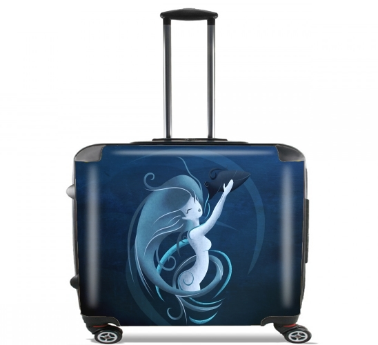 "Aquarius Girl  for Wheeled bag cabin luggage suitcase trolley 17"" laptop"