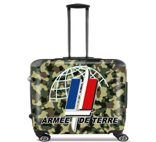 "Armee de terre - French Army for Wheeled bag cabin luggage suitcase trolley 17"" laptop"