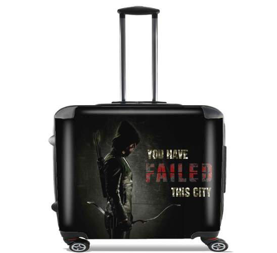 "Arrow you have failed this city for Wheeled bag cabin luggage suitcase trolley 17"" laptop"