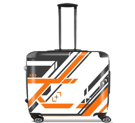 "Asiimov Counter Strike Weapon for Wheeled bag cabin luggage suitcase trolley 17"" laptop"