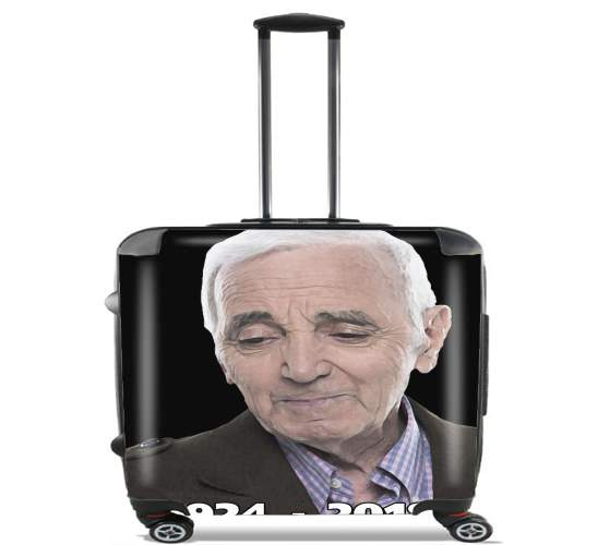 "Aznavour Hommage Fan Tribute for Wheeled bag cabin luggage suitcase trolley 17"" laptop"