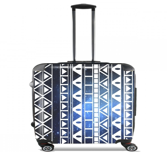 "Tribal Aztec Pattern Blue for Wheeled bag cabin luggage suitcase trolley 17"" laptop"