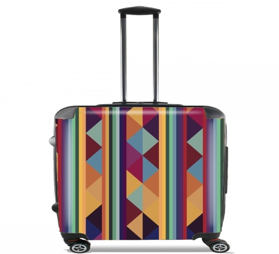"Aztec Pattern Pastel for Wheeled bag cabin luggage suitcase trolley 17"" laptop"