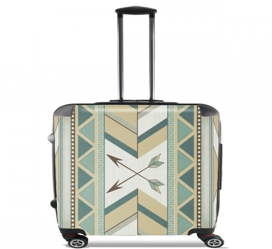 "Aztec Pattern  for Wheeled bag cabin luggage suitcase trolley 17"" laptop"