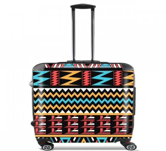 "aztec pattern red Tribal for Wheeled bag cabin luggage suitcase trolley 17"" laptop"