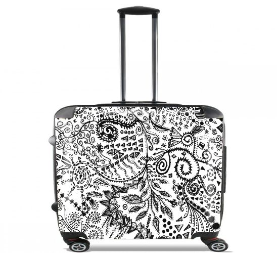 "Aztec W&B (Handmade) for Wheeled bag cabin luggage suitcase trolley 17"" laptop"