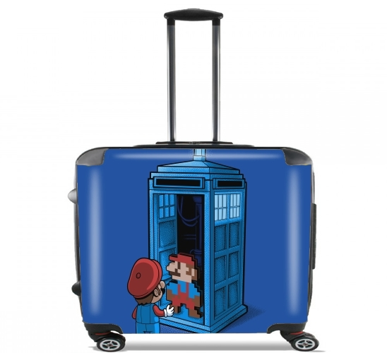 "Back To 8 bits for Wheeled bag cabin luggage suitcase trolley 17"" laptop"