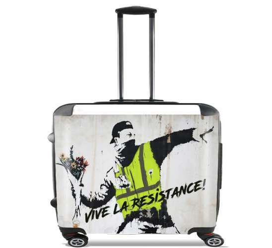 "Bansky Yellow Vests for Wheeled bag cabin luggage suitcase trolley 17"" laptop"
