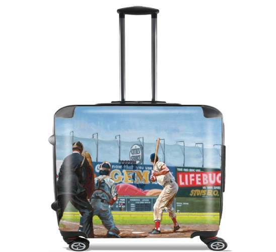 "Baseball Painting for Wheeled bag cabin luggage suitcase trolley 17"" laptop"