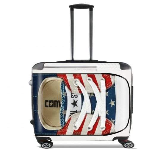 "All Star Basket shoes USA for Wheeled bag cabin luggage suitcase trolley 17"" laptop"