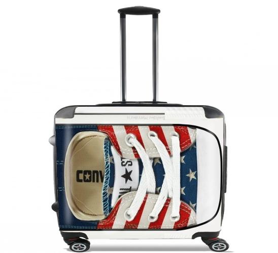 wheeled bag cabin luggage suitcase trolley 17 laptop with joke design. Black Bedroom Furniture Sets. Home Design Ideas