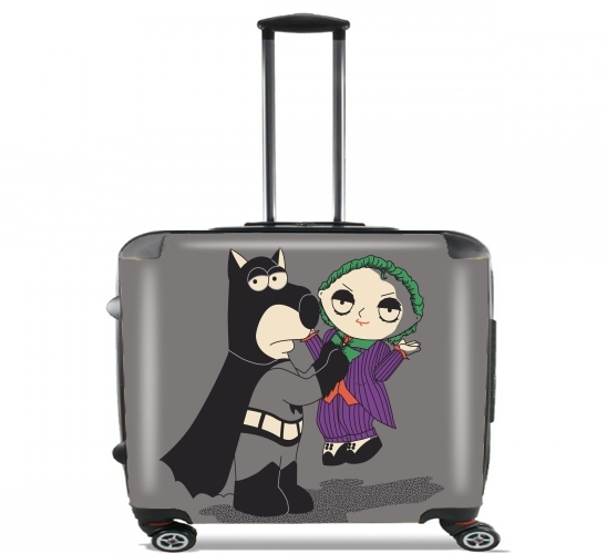"Batguy for Wheeled bag cabin luggage suitcase trolley 17"" laptop"