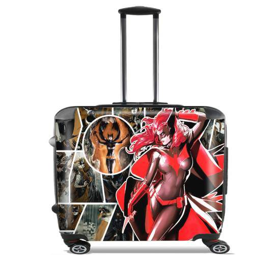 "Batwoman for Wheeled bag cabin luggage suitcase trolley 17"" laptop"