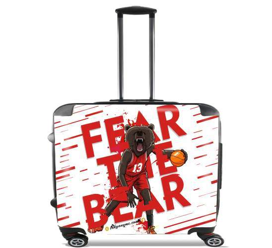 "Beasts Collection: Fear the Bear for Wheeled bag cabin luggage suitcase trolley 17"" laptop"