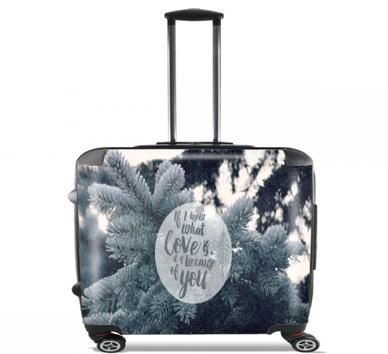 "Because of You for Wheeled bag cabin luggage suitcase trolley 17"" laptop"