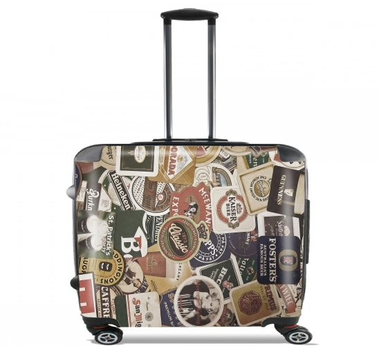 "Beers of the world for Wheeled bag cabin luggage suitcase trolley 17"" laptop"