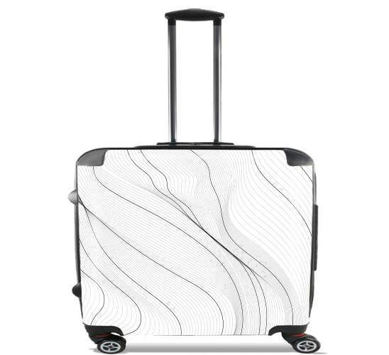 "Black Lines for Wheeled bag cabin luggage suitcase trolley 17"" laptop"